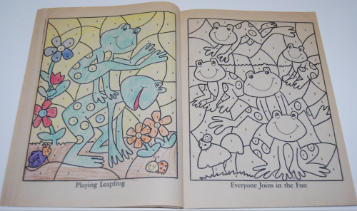 Whitman coloring book let's be friends 3