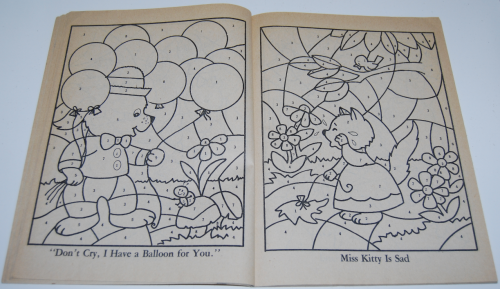 Whitman coloring book let's be friends 4