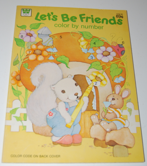 Whitman coloring book let's be friends