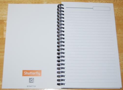 Shutterfly notebook x
