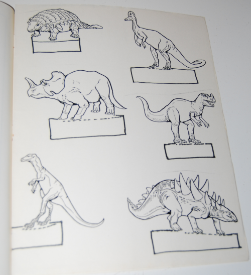 Counting coloring dinosaurs 6