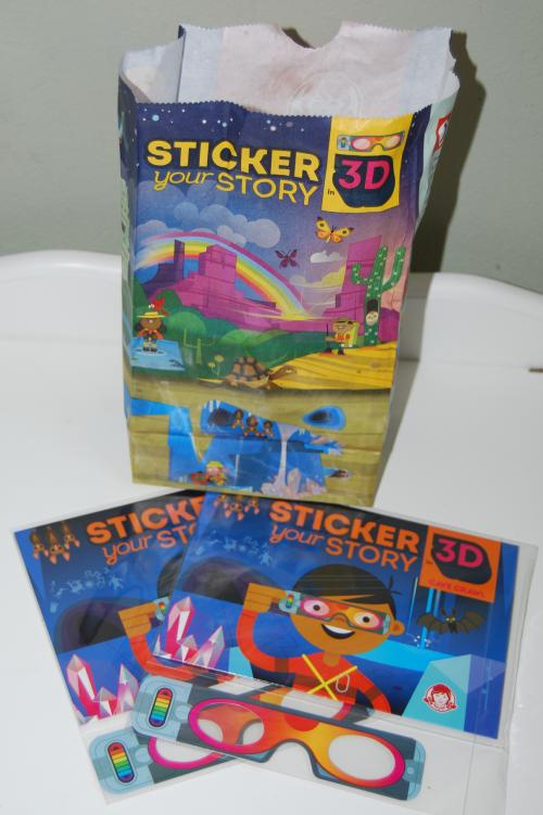 Wendy's 3d stickers x