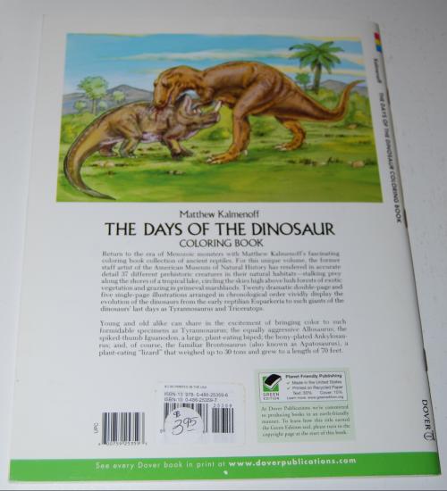 Dover days of the dinosaur x