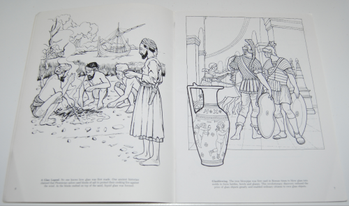 Dover story of glass coloring book 4