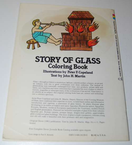Dover story of glass coloring book x
