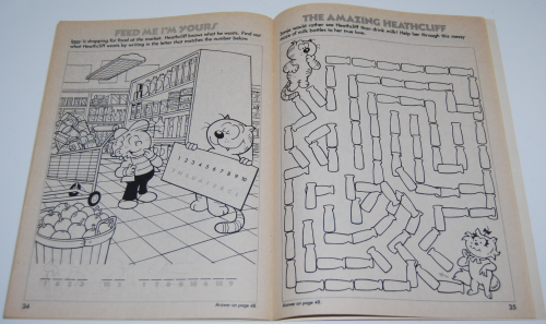 Heathcliff coloring book 6