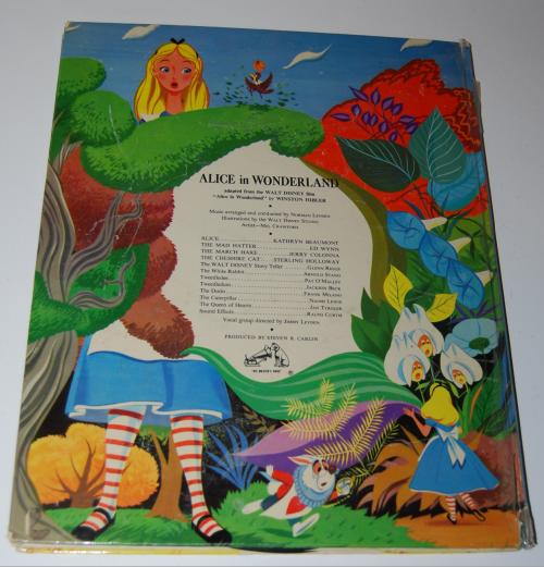 Alice in wonderland rca victor book x