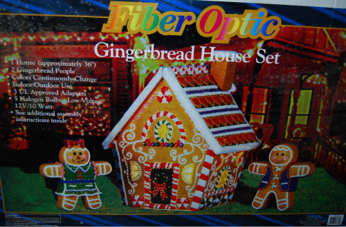 Xmas fiber optic gingerbread house