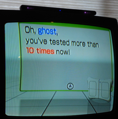 Wii yoga ghost