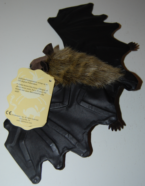Folkmanis little brown bat puppet 1