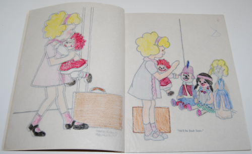 Raggedy ann trace & color 3