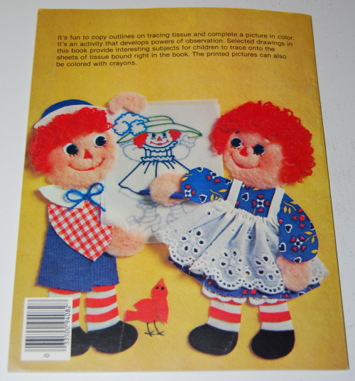 Raggedy ann trace & color x