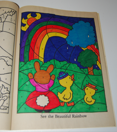 Whitman coloring book let's be friends 6