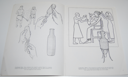 Dover story of glass coloring book 3