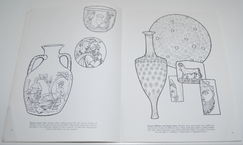 Dover story of glass coloring book 6
