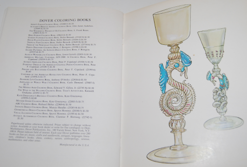 Dover story of glass coloring book 12