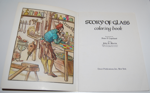 Dover story of glass coloring book 1