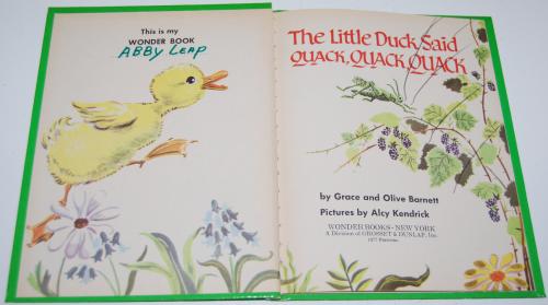 Little duck said quack wonder book 1