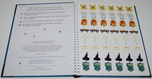 Harry potter hogwarts journal1