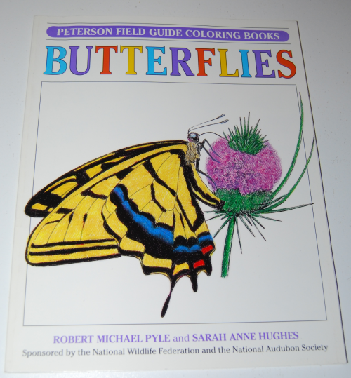 Petersen field guide coloring book butterflies