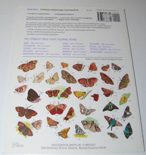 Peterson field guide coloring book butterflies x