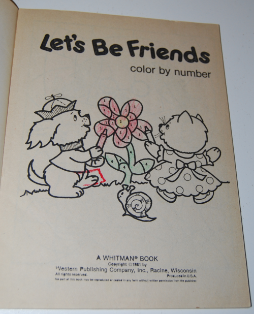 Whitman coloring book let's be friends 1