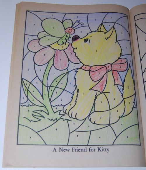 Whitman coloring book let's be friends 7