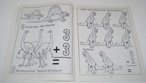 Counting coloring dinosaurs 5