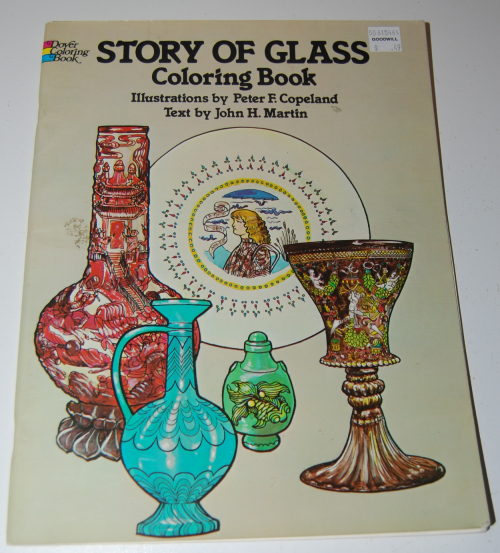 Dover story of glass coloring book