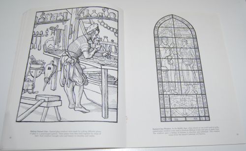 Dover story of glass coloring book 8