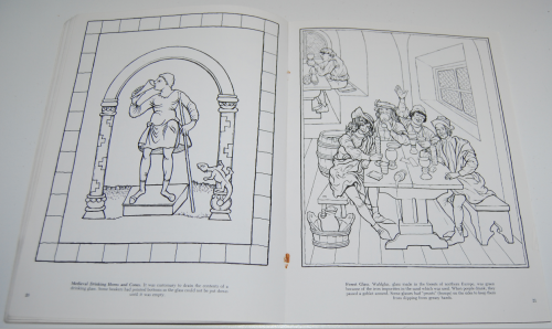 Dover story of glass coloring book 9