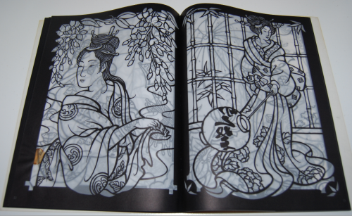 Dover japanese geishas stained glass coloring book 4