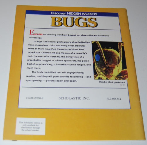 Bugs scholastic book x