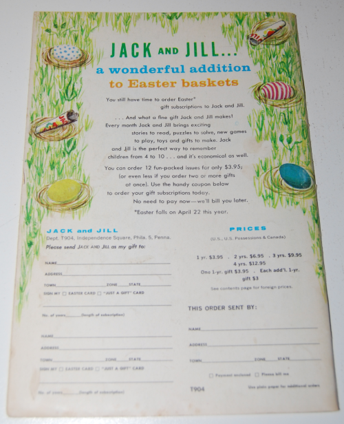 Jack & jill april 1962 x