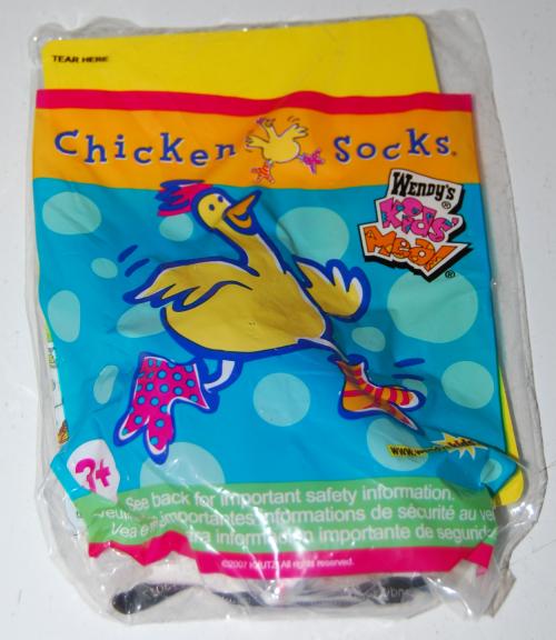 Wendy's kids meal chicken socks