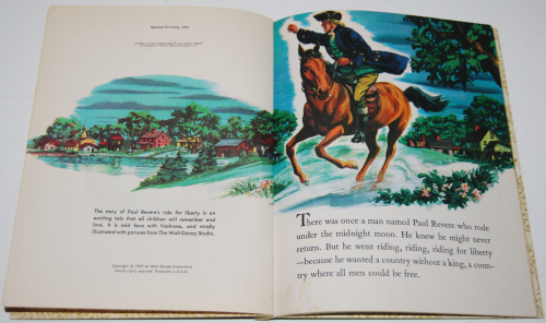 Little golden book disney paul revere 1