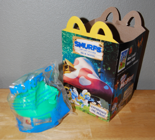Smurfs happy meal 2017