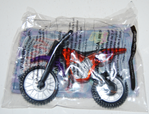 Wendy's kids meal moto cross toy