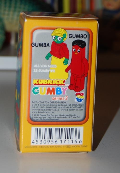 Gumby kubrick 2 box