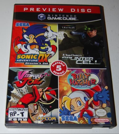 Nintendo gamecube preview disc