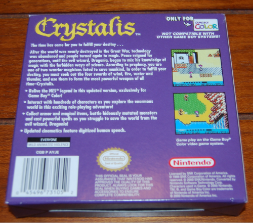 Crystalis gameboy color