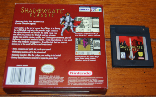 Shadowgate classic gameboy color