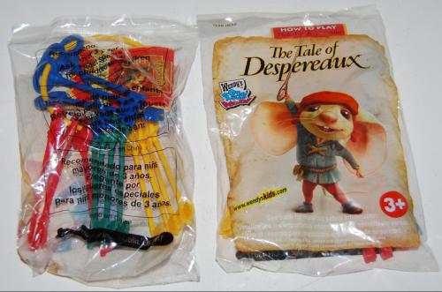 Wendy's kids meal despereaux toy