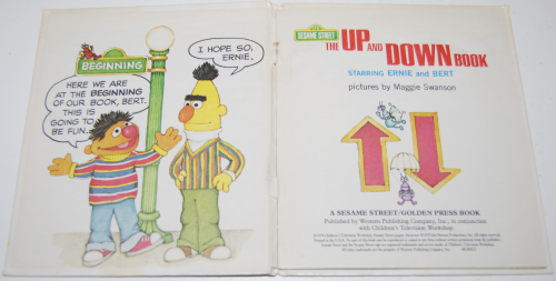 Up & down book ernie & bert x