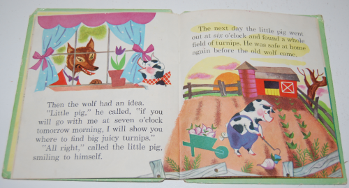 3 little pigs book vintage 3