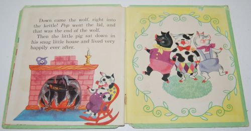 3 little pigs book vintage 5