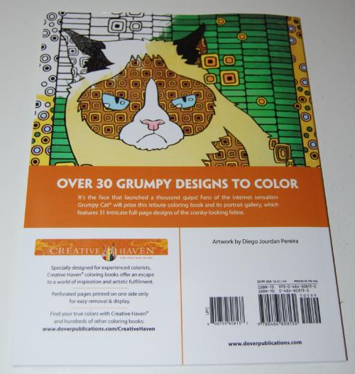 Grumpy cat hates coloring book x