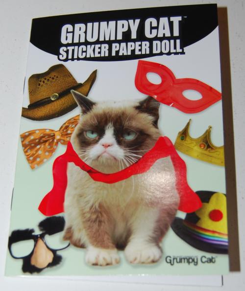 Grumpy cat sticker paperdoll book
