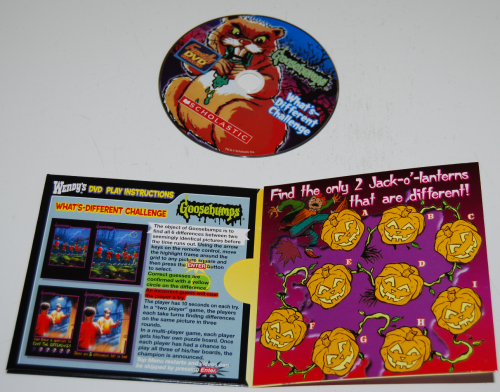 Wendy's kids meal cd games goosebumps