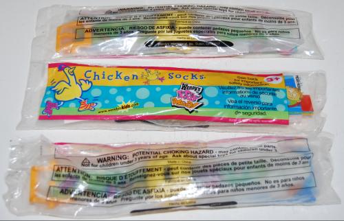 Wendy's kids meal chicken socks toys
